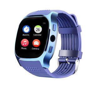 KALOAD T8M hjärtfrekvens blodtrycksmätare Bluetooth-kamera Smart Watch för Android