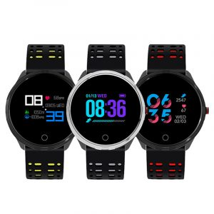"XANES X7 1.04 ""TFT-färgskärm IP68 Vattentät Smart Watch Hjärtfrekvens Blodtrycksmätare Fitness Smart Armband"