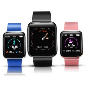 XANES® W5 1.3 '' IPS Färgskärm IP67 Vattentät Smart Watch Meddelande Tryck blodtryck Oxygen Monitor Stopwatch Sport Fitness Armband