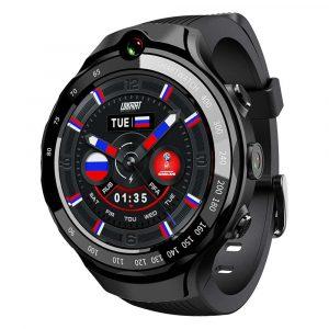 LOKMAT LOK 02 4G LTE 1 + 16G Dual HD-kamera Dual GPS-positionering Smart Watch Phone 1.39 '' AMOLED-skärm Optisk pulsmätare Fler sportsmetoder Fitness Smart Armband