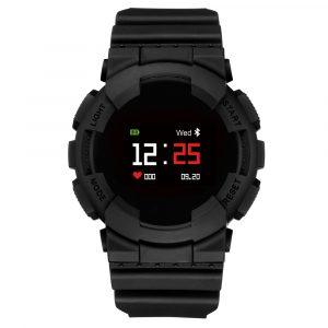 KALOAD MX Färgskärm Hjärtfrekvens Blodtrycksmätare IP68 Vattentät Sport Smart Watch