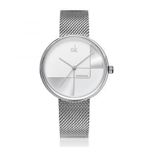 SHENGKE SK  K0105L Geometric Line Women Quartz Watch