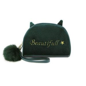 Velvet Large Capacity Cute Travel Cosmetic Bags