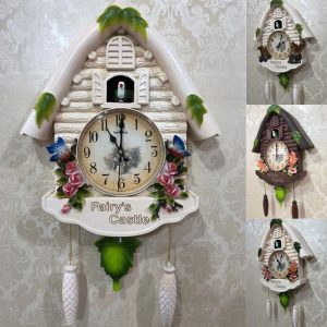 Cute Large Birdcall Cuckoo House Wall Clock Home Kid Room Decor