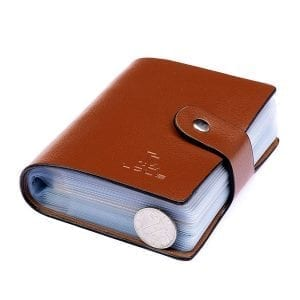 Genuine Leather Fashion 60 Card Slots Large Capacity Card Holder