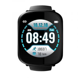 Bakeey A8 Storskärm Färgskärm Smart Klocka Realtid Blodtryck och Oxygen Monitor Lång standby armband