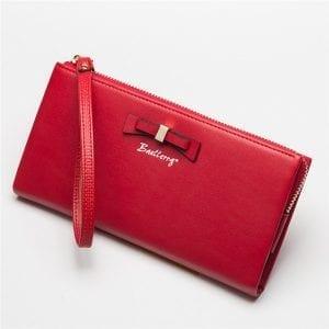 Clutch Purse Long Wallet Zipper Bowknot Bill Holder For Women
