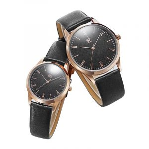 SHENGKE SK K9003 Parläder Simple Dial Quartz Watch