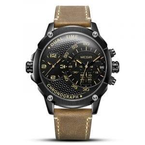 MEGIR 2093 Dual Time Zones Chronograph Sport Watch