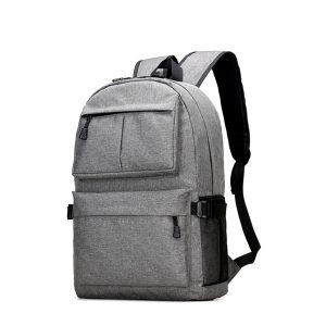 Mäns vattentät bärbar ryggsäck resväska med USB-laddningsport