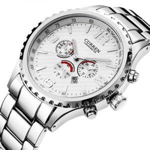 CURREN 8056 Full Steel Business Style Men Wrist Watch
