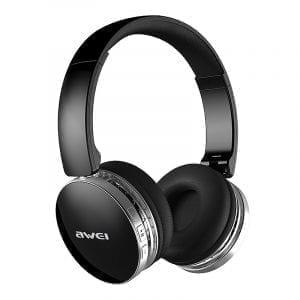 AWEI A500BL hopfällbar trådlös Bluetooth-hörlurar Stereo Hi-Fi Brusreducerande 40mm enhet med mikrofon