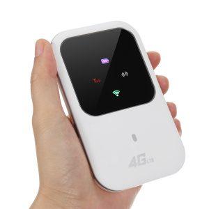Bärbar Wifi 4G Router LTE Trådlös bil Mobil Wifi Hotspot SIM-kortplats Spärröppning