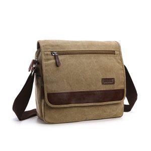Canvas Retro Shoulder Crossbody Bag Casual Outdoor Men Shoulder Bag