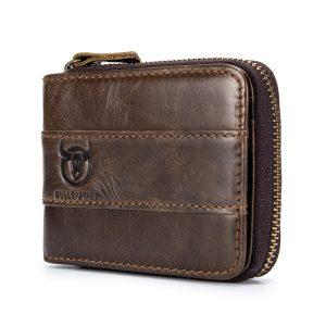 Bullcaptain plånbok RFID äkta läder plånbok