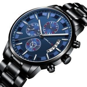 CRRJU 2261 Men Calendar Fashion Dial Luminous Quartz Watch