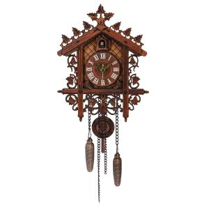 Vintage Handcraft Wood Cuckoo Wall Clock Tree House Swing Wall Clock Art Home Decorations