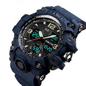 SKMEI 1155B MilitaryCamouflage Waterproof Dual Display Watch