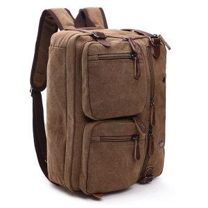 Ekphero® Men 3-convertible Handbag Vintage Crossbody Shoulder Bag Travel Backpack