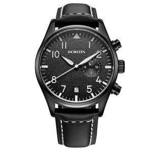 OCHSTIN GQ043C Fashion Men Quartz Watch Luxury Leather Strap Sport Watch
