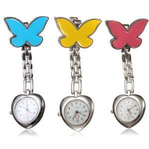 Butterfly Nurse Clip Heart Brosch Rostfri fickur
