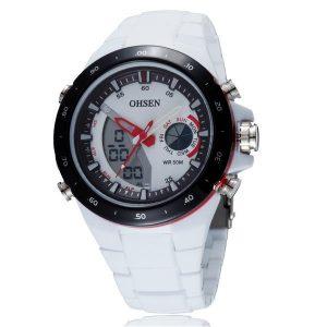 OHSEN AD2802 Digital Analog Alarm Stopwatch Sportklocka för män