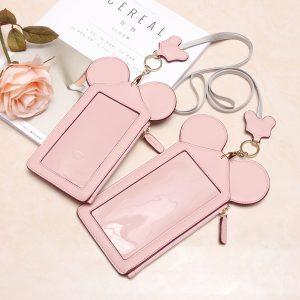 Kvinnors söt djurformig snöret telefonplånbok