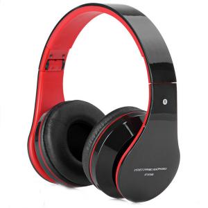AT-BT809 hopfällbart trådlöst Bluetooth-hörlurar med mikrofon FM-TF