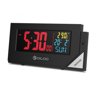 [2019 Third Digoo Carnival] Digoo DG-C8 New Wireless Full Color Digital Clear Backlight Electronical Desk Bedroom Alarm Clock with Light Sensor