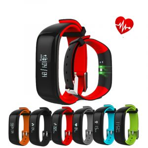 0.86inch OLED P1 Heart Rate Blood Pressure Monitor Waterproof bluetooth Smart Watch For iphone X 8/8