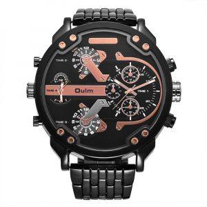 OULM 3548 Unique Design Full Steel Men Wrist Watch