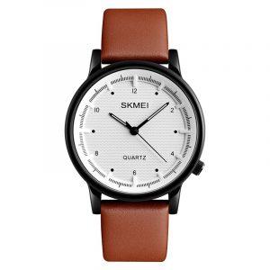 SKMEI 1210 Fashion Watch Simple Style Leather Strap Casual Unisex Quartz Analog Wrist Watch