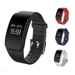 A59 Hjärtfrekvens Blodtryck Oxygen Monitor Pedometer Sport Smart Armband för iphone X 8 Samsung S8