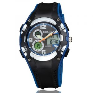 OHSEN AD1309 LED Digital Analog Alarm Stopwatch Men Sport Wrist Watch