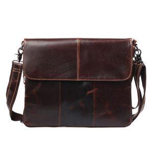 Genuine Leather Retro Crossbody Bag Leisure Shoulder Bag Business Briefcase