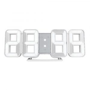 FanJu FJ3208 LED Digital 3D 8-formsklocka Kreativ bord Väckarklocka Väggklocka Tidtemperaturvisning