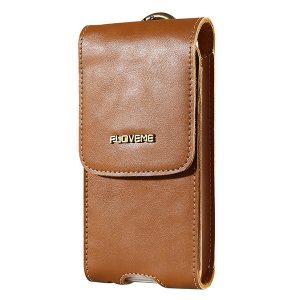 FLOVEME Bältesklämma PU Läder Utomhus Telefon 5.5 Clutches Bag