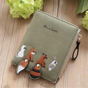 Cartoon Cute Lovely Bi-fold Small Wallet Purse Card Holder