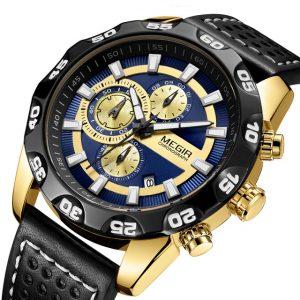 MEGIR 2096 Luxury Sports Style Chronograph Men Quartz Watch