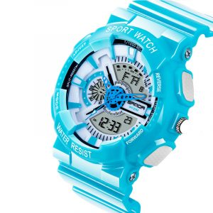 SANDA 799 Colorful Sport Clalendar Dual Displa Digital Watch