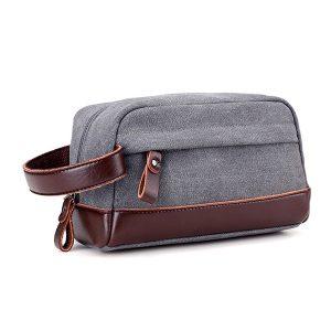 Canvas Stor kapacitet Casual Clutches Bag Bärbar korthållare Telefonväska Key Coin Bag