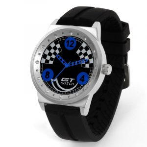 GT 001 Män Sport Mode Silikagelrem Racing Car Style Quartz armbandsur