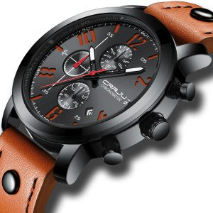 CRRJU 2215 Chronograph Casual Style Luminous Men Watch