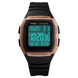 SKMEI 1278 50m Waterproof LED Date Luminous Digital Watch