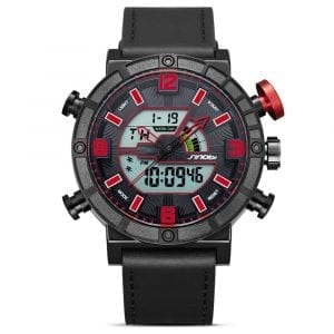 SINOBI 9733 Chronograph Luminous Dual Display Digital Watch