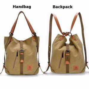 Kvinnor Män Canvas Handväskor Multifunktions ryggsäck