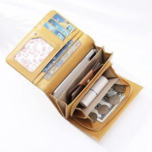 Brenice Women Plain Trifold Wallet