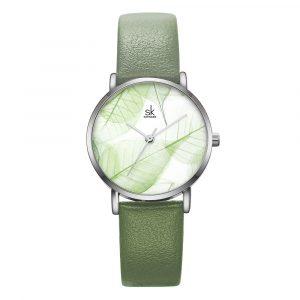 SHENGKE SK K0108 Spring Jade Dial Women Quartz Watch
