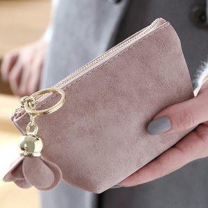 Enkel Frostad Clutch Bag Coin Bag Card Bag Färsk handväska för