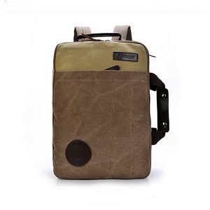 Men Canvas Leisure Travel Backpack Crossbody Bag Large Capacity Laptop Bag Satchel